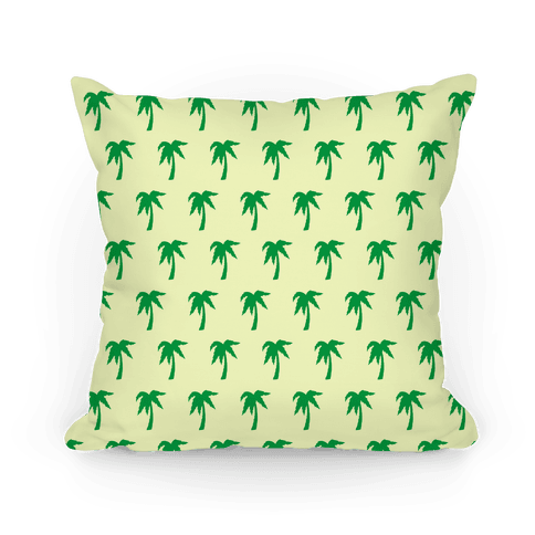 Palm Tree Pattern Pillow Pillow