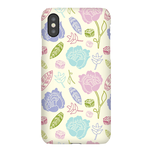 Floral and Leaves Pattern Phone Case