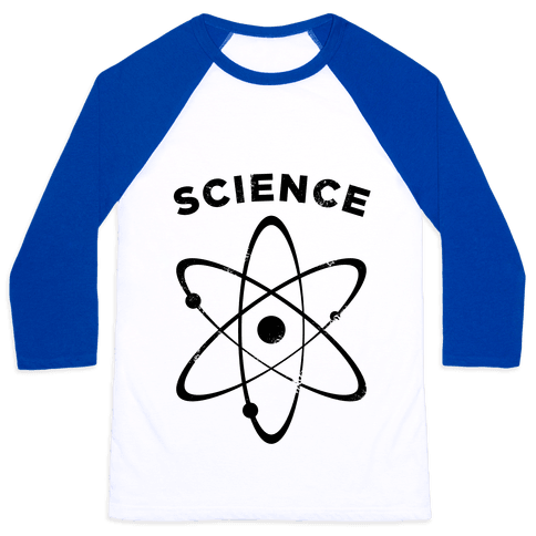 Science (Atom) Vintage Baseball Tee