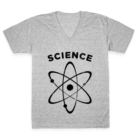 Science (Atom) Vintage V-Neck Tee Shirt