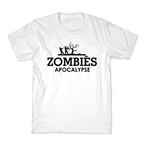 Zombies High Fashion Parody Kids T-Shirt