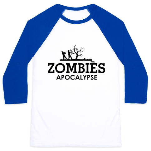 Zombies High Fashion Parody Baseball Tee