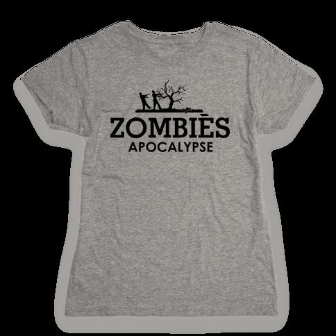 Zombies High Fashion Parody Womens T-Shirt