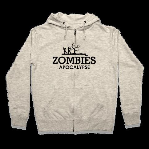 Zombies High Fashion Parody Zip Hoodie