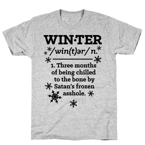 Winter Definition Mens T-Shirt