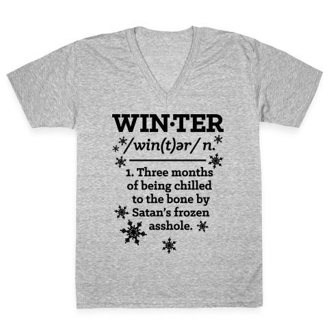 Winter Definition V-Neck Tee Shirt