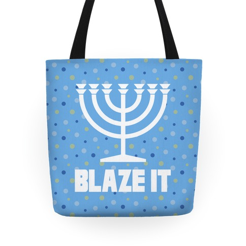 Blaze It Menorah Tote