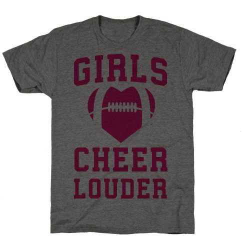 Girls Cheer Louder Mens T-Shirt