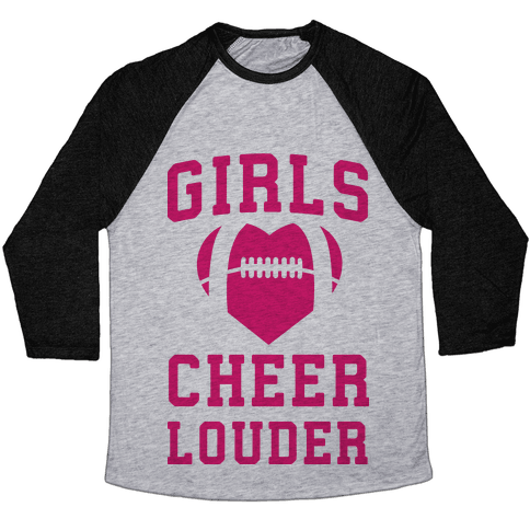 Girls Cheer Louder Baseball Tee