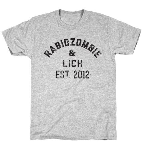 RabidZombie & Lich (distressed) T-Shirt