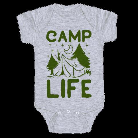 Camp Life Baby Onesy