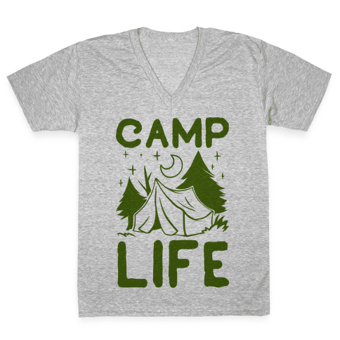 Camp Life V-Neck Tee Shirt
