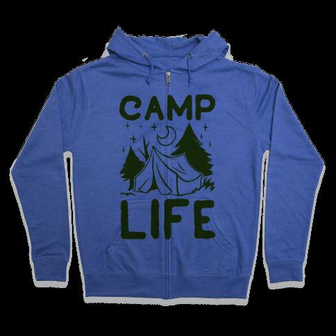 Camp Life Zip Hoodie