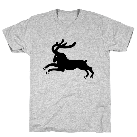 Reindeer Running Mens T-Shirt