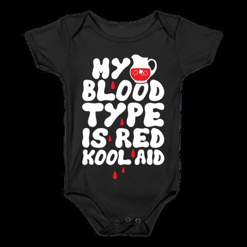Kool Aid Blood Baby Onesy