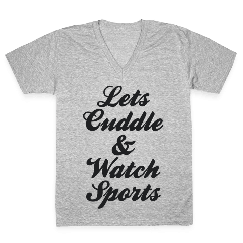 Cuddle & Sports V-Neck Tee Shirt