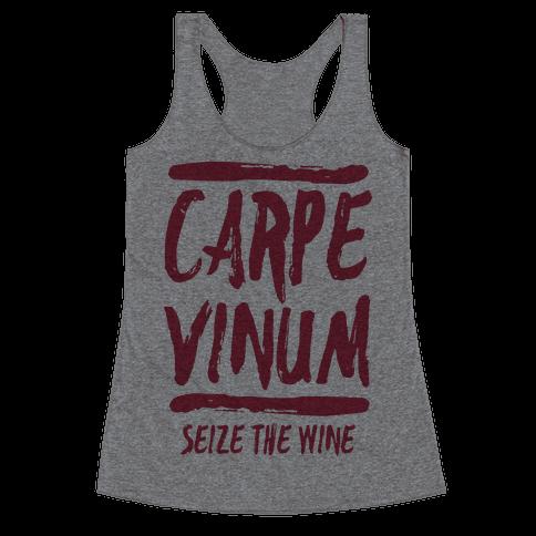 Carpe Vinum Racerback Tank Top
