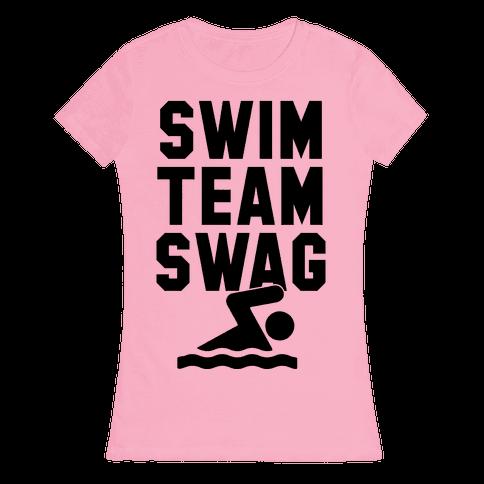 Swim Team Swag Womens T-Shirt