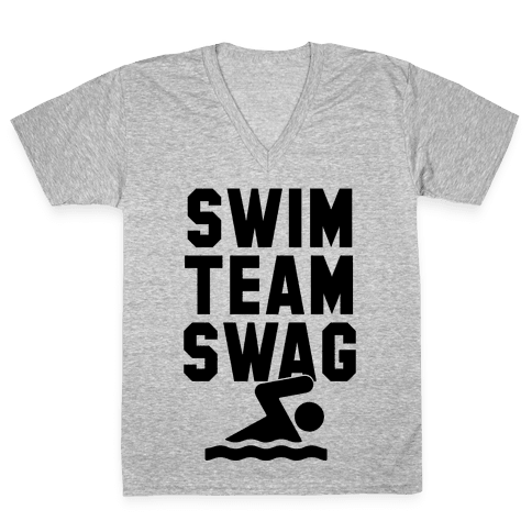 Swim Team Swag V-Neck Tee Shirt