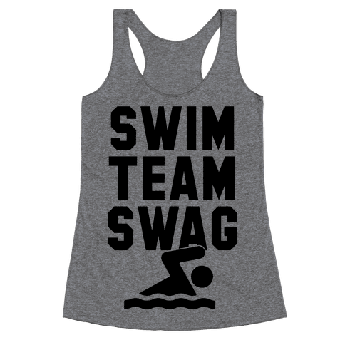 Swim Team Swag Racerback Tank Top