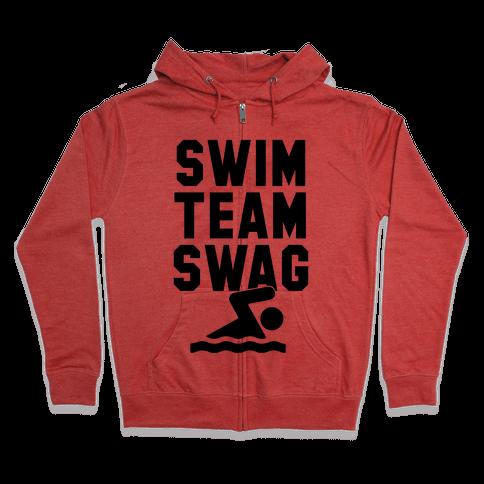 Swim Team Swag Zip Hoodie