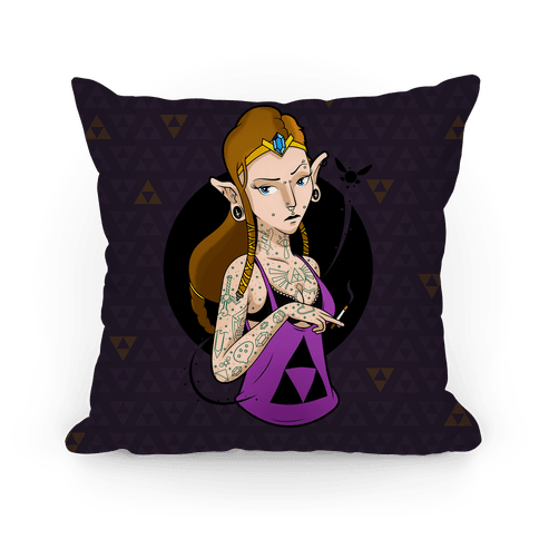 Punk Zelda Parody Pillow