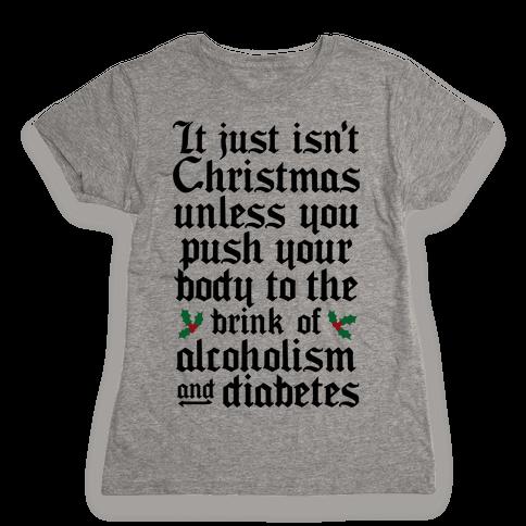 Alcoholism And Diabetes Womens T-Shirt