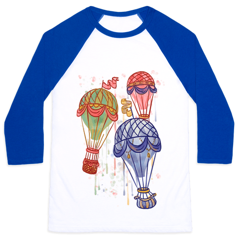 Watercolor Balloon Trip Baseball Tee