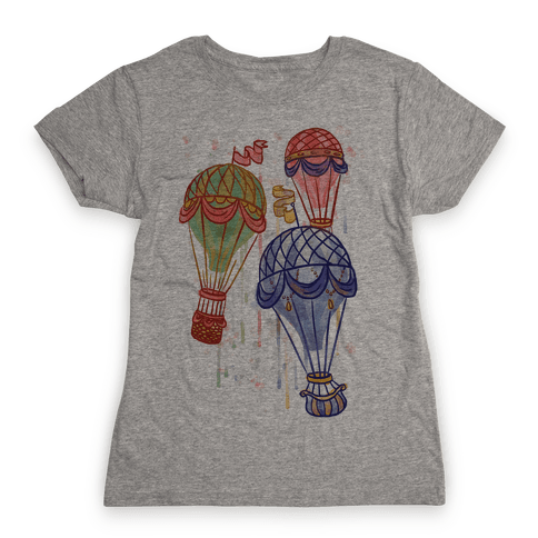 Watercolor Balloon Trip Womens T-Shirt