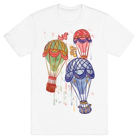 Watercolor Balloon Trip T-Shirt