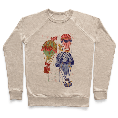 Watercolor Balloon Trip Pullover