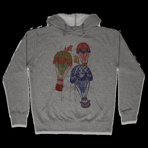Watercolor Balloon Trip Hooded Sweatshirt
