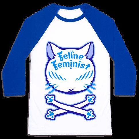 Feline Feminist Baseball Tee