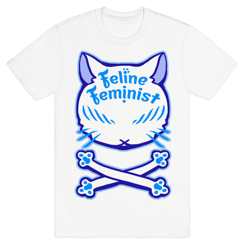 Feline Feminist Mens T-Shirt