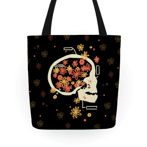 Terminal Daydream Flower Skull Tote
