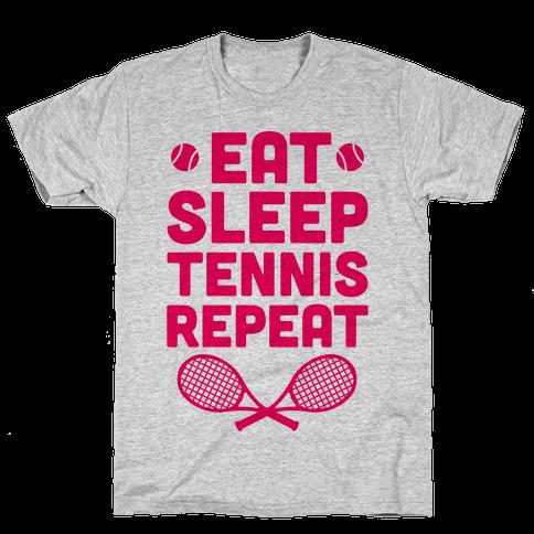 Eat Sleep Tennis Repeat Mens T-Shirt