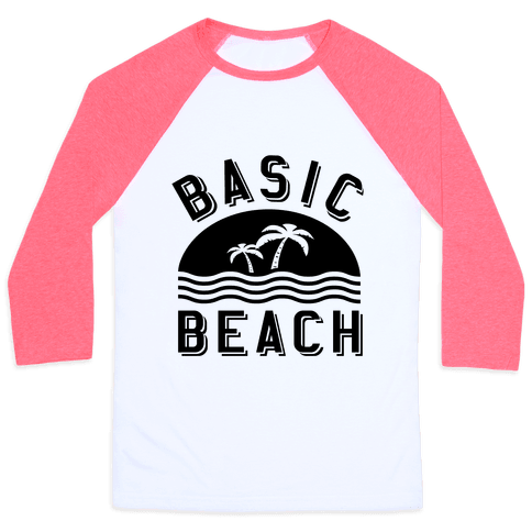Basic Beach Baseball Tee