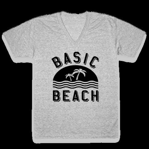 Basic Beach V-Neck Tee Shirt