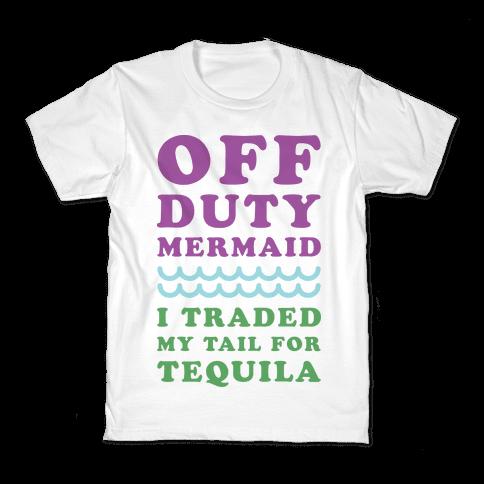 Off Duty Mermaid Kids T-Shirt