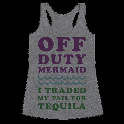 Off Duty Mermaid Racerback Tank Top