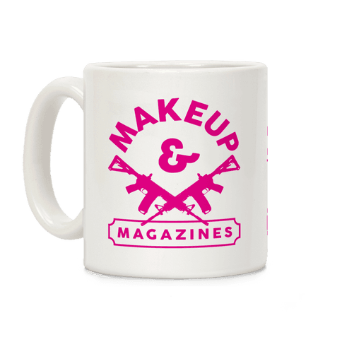 Makeup And Magazines Coffee Mug