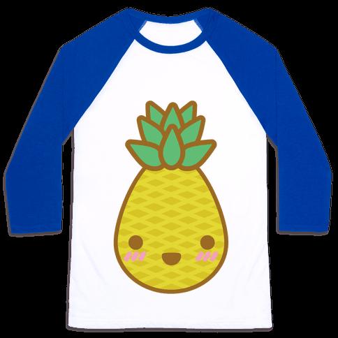 Kawaii Pineapple Baseball Tee