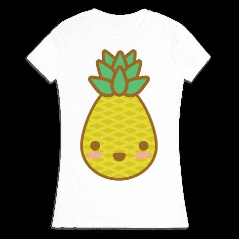 Kawaii Pineapple Womens T-Shirt