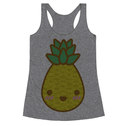 Kawaii Pineapple Racerback Tank Top