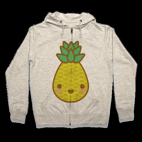 Kawaii Pineapple Zip Hoodie