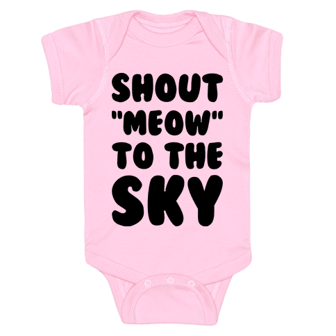 Shout Meow to the Sky Baby Onesy