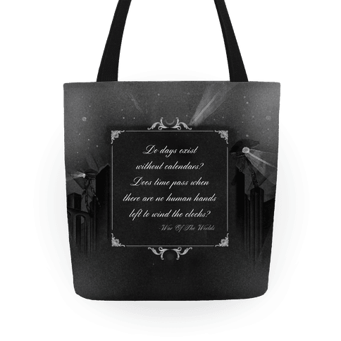 War of The Worlds Quote Tote Tote