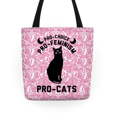 Pro-Choice Pro-Feminism Pro-Cats Tote