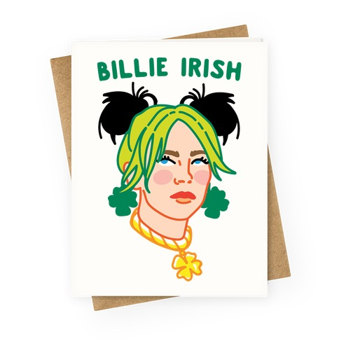 Billie Irish Parody Greeting Card