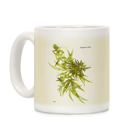 Cannabis Botanical Illustration Coffee Mug